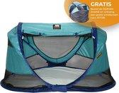 Deryan Shane Luxe 2021 Campingbedje - Baby tent- Anti-UV 50+ - Ocean -GRATIS Windscreen