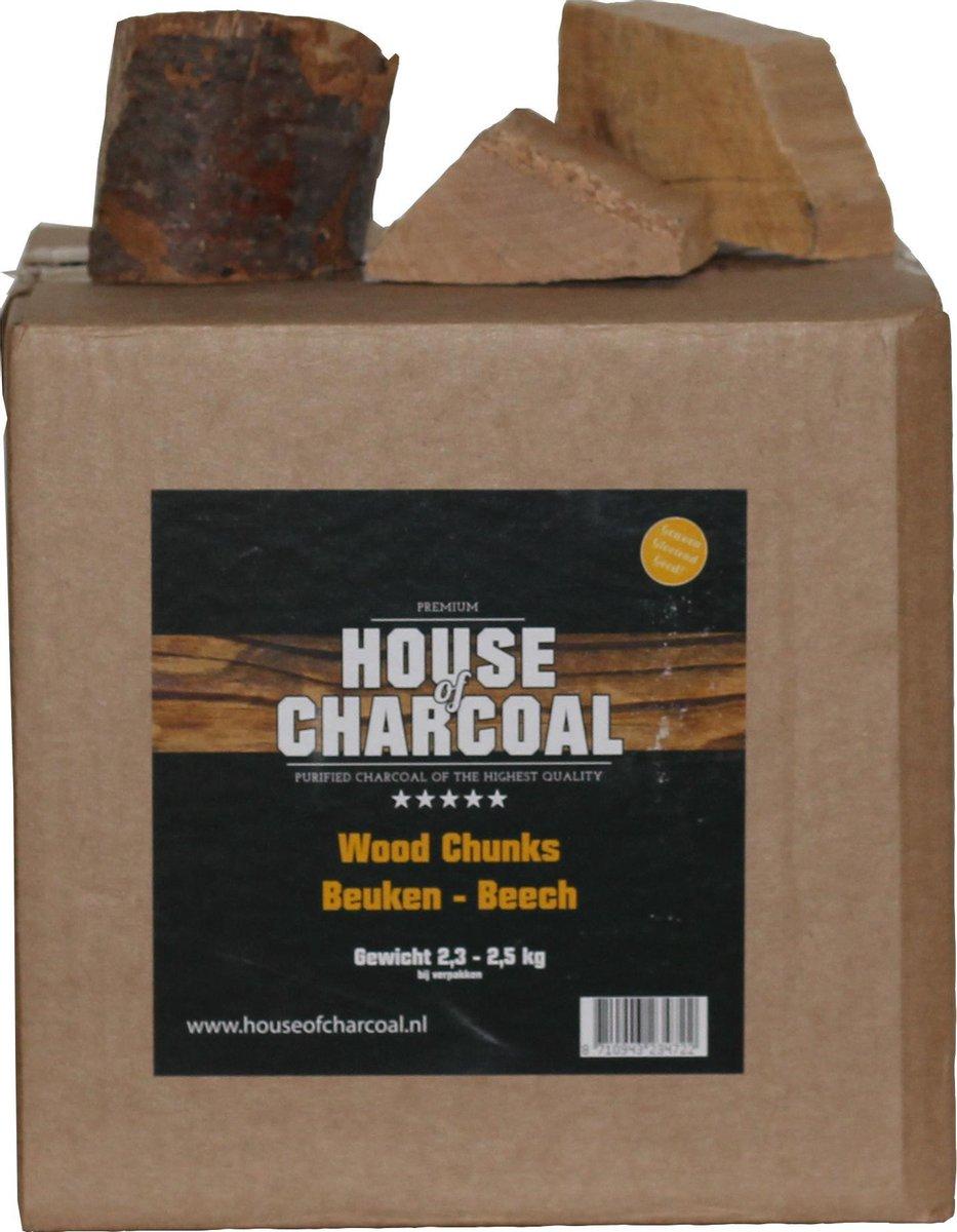 Rookhout chunks Beuken - Chunks Beech smoking wood - 2,5 kg