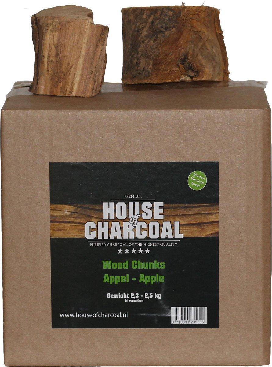 Rookhout Appel Chunks - Apple Chunks smoking wood - 2,5kg