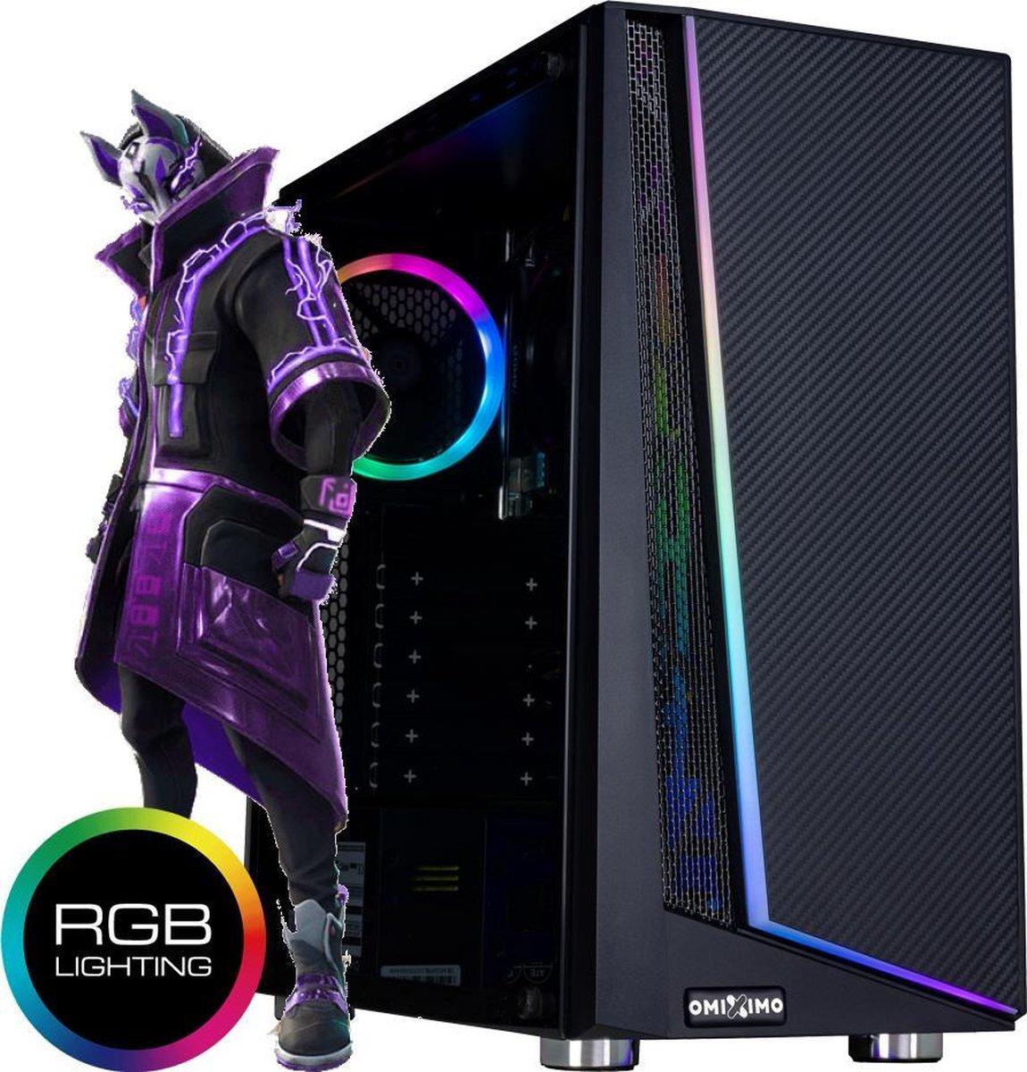 omiXimo   AMD Ryzen 3    Game PC   16 GB ram   480 GB SSD  Geschikt voor: Fortnite, Minecraft, Sims