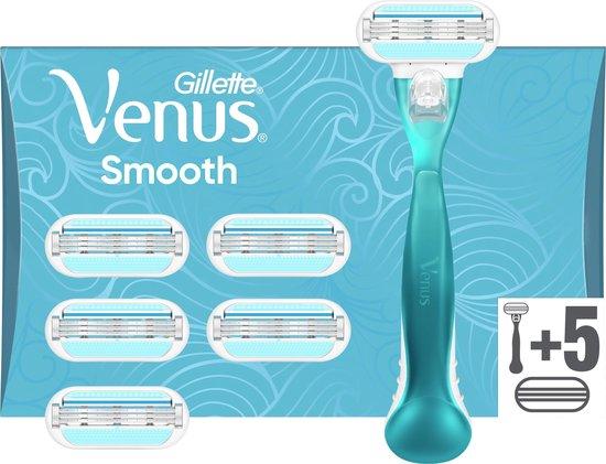 Gillette Venus Smooth Scheersysteem Voor Vrouwen + 5 Navulmesjes - Scheermesje