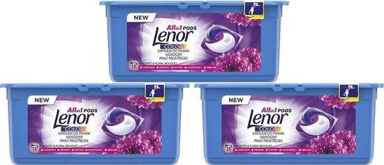 Lenor - Wasmiddel Pods - Amethyst & Bloemenboeket - 3 x 28 (84) stuks - Voordeelverpakking - Wascapsules - Amethist en bloemen