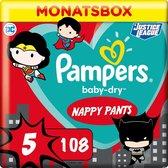 Pampers Pants Baby Dry - Luierbroekjes - Maat 5 - 12-17 kg - Maandbox - Limited Edition, 108 St
