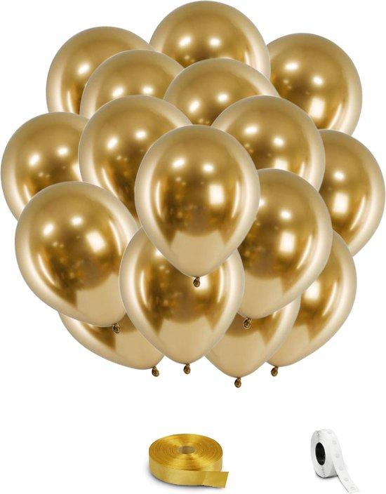 Gouden Metallic Helium Ballonnen - 24 stuks