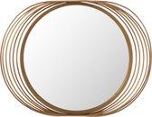 J-Line Spiegel Ringen Rond Metaal/Glas Goud