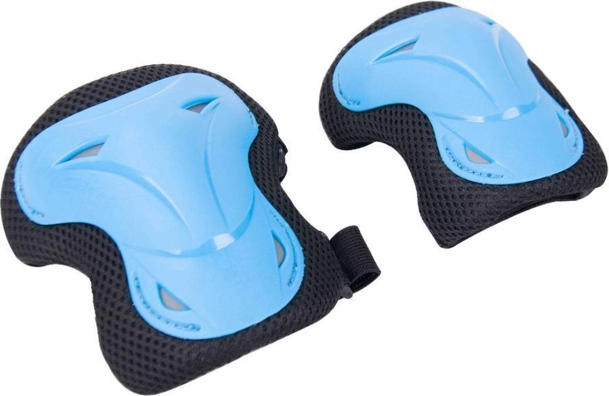 Professioneel Skate Beschermset Blauw Deluxe - Skate Bescherming - Skeeler Beschermset- Skeeler bescherming - Pols, Knie en Elleboog bescherming - Geschikt voor Kinderen & Volwassenen