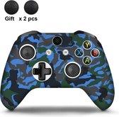 Gadgetpoint | Xbox One | Siliconen Controller Hoesjes | Camo | Blauw