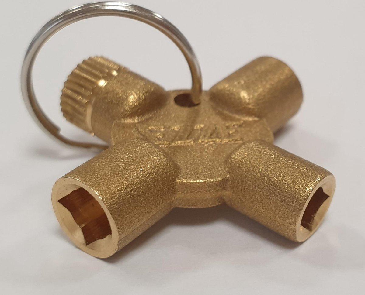 Radiator ontluchtingssleutel 4-delig (sleutelhanger)