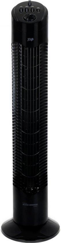 JAP Quebec - Stille torenventilator - Toren ventilator staand - Kolomventilator - Timer - Zwart