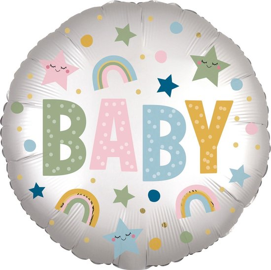 Amscan Folieballon Baby Geboorte Junior 25 Cm