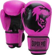 Super Pro Talent Bokshandschoenen Roze/Zwart - 4 oz