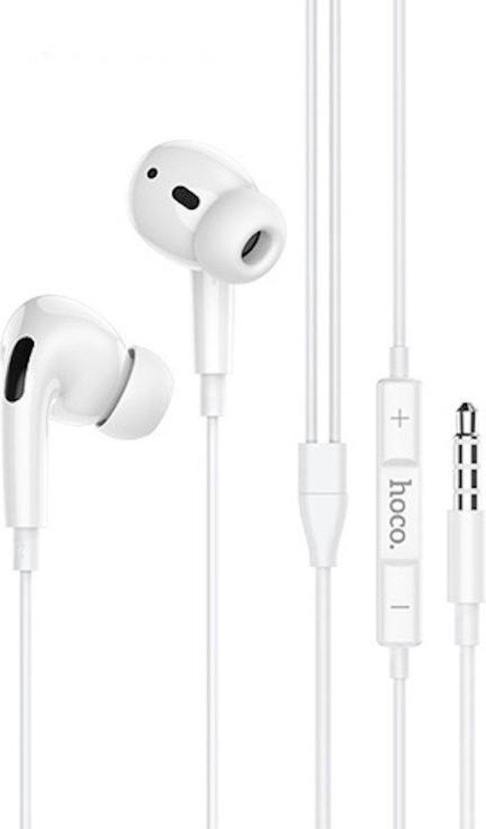 HOCO M1 Pro – In Ear Oordopjes – Oortjes met draad en microfoon – 120cm kabel – Wit