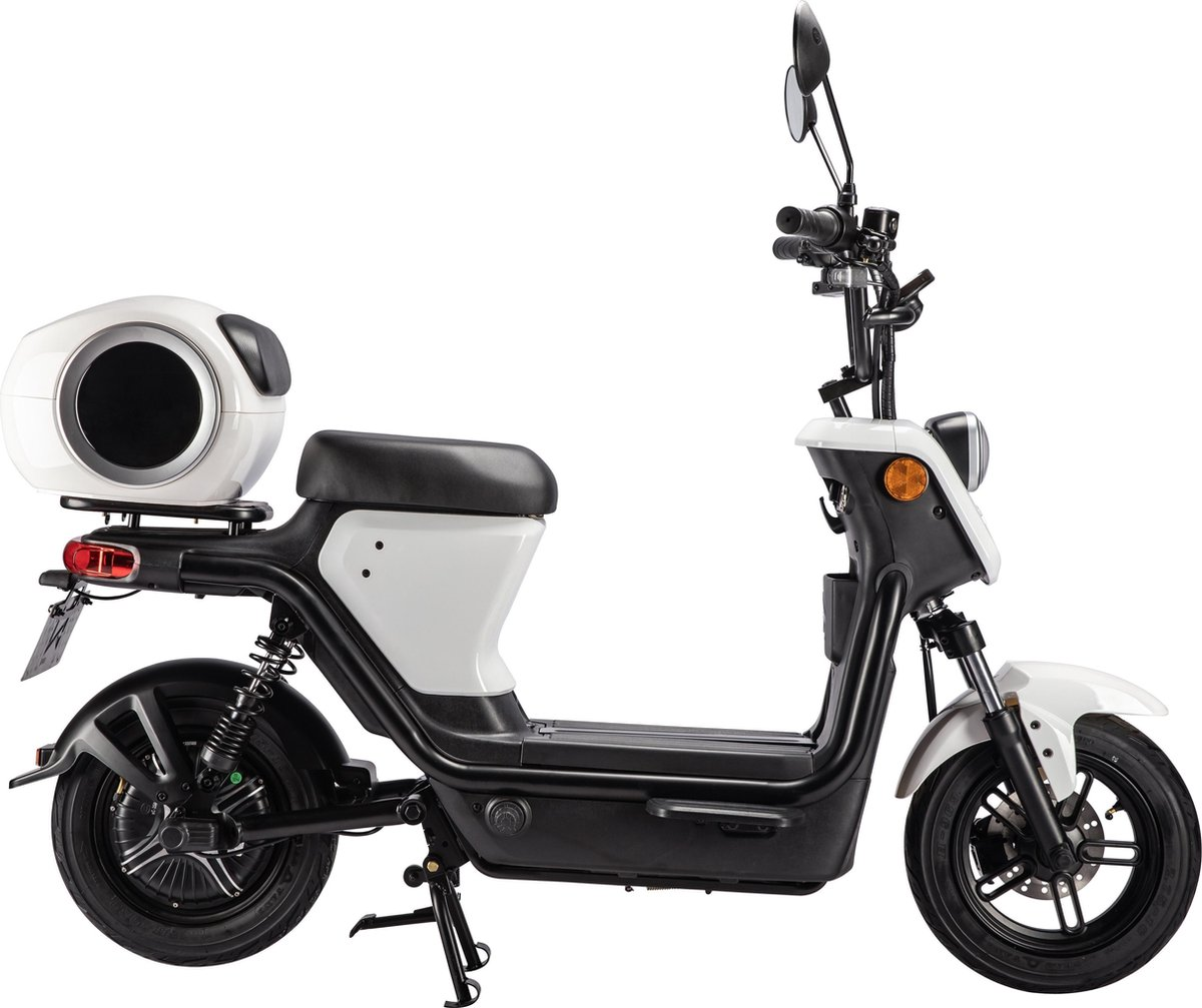 Evomaxx E scooter Pearl White + BOSCH motor, Lithium-Ion accu uitneembaar, actieradius 50-80 km* Bla