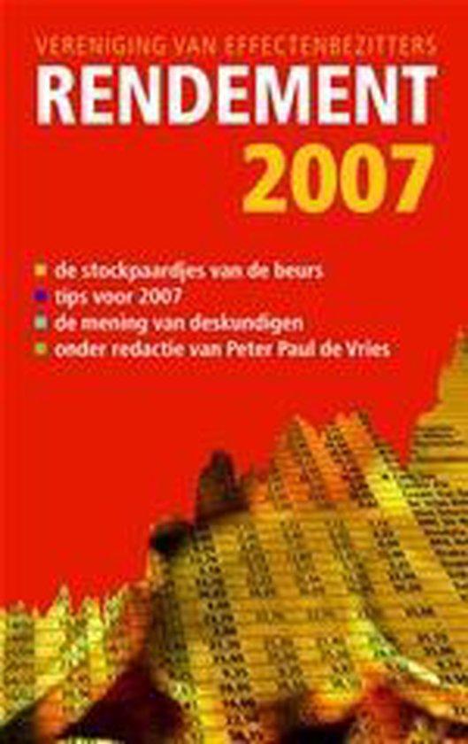 Cover van het boek 'Rendement 2007'