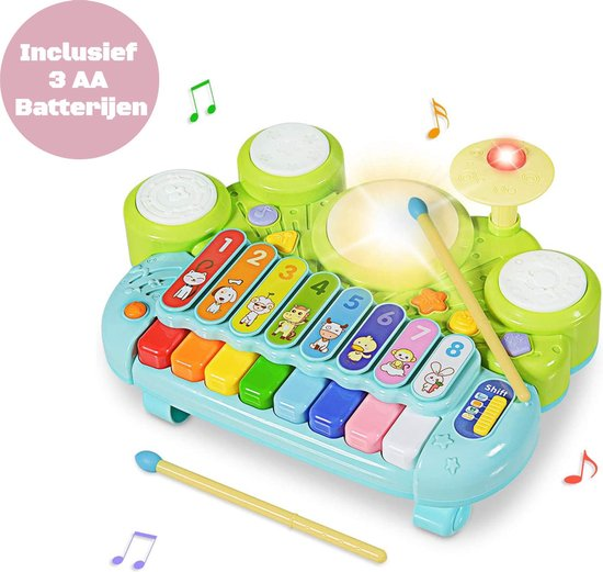 LissieLife 3-in-1 Xylofoon voor Baby en Peuter - Piano - Xylofoon Speelgoed - Keyboard - Inclusief Batterij