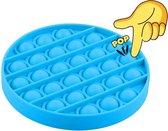 Pop it Fidget Toy  - Blauw - Ronde vorm