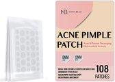 Acne Patches - Puisten Verwijderaar - Huidreiniger - 108 Stuks in 2 Formaten - Pukkel Pleister - Pimple Patch die Onzuiverheden Absorbeert  - Acneverzorging