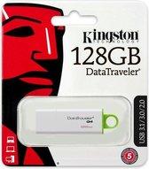 Kingston Pendrive Data Traveler 128GB - DTIG4 - USB 3.0 - Wit
