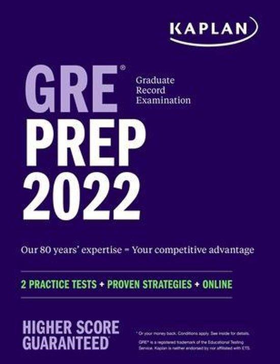 Boek cover GRE Prep 2022 van Kaplan Test Prep (Paperback)