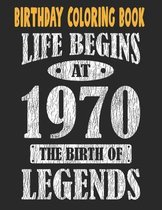 Birthday Coloring Book Life Begins At 1970 The Birth Of Legends: Easy, Relaxing, Stress Relieving Beautiful Abstract Art Coloring Book For Adults Colo