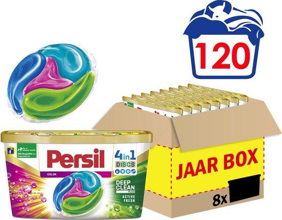 Persil 4in1 Discs Color Wascapsules - Wasmiddel Capsules - Voordeelverpakking - 8 x 15 wasbeurten