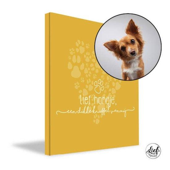 Afbeelding van LIEF DAGBOEKJE - Rouwverwerking kind: Lief Hondje, een dikke knuffel van mij... invulboek ter herinnering aan het overlijden van je hondje (hond overleden)