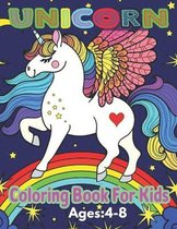 Unicorn Coloring Book For Kids Ages: 4-8: A Fun Kid Workbook Game For Learning, Coloring, Mazes, Word Search and More!