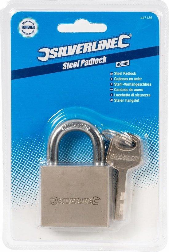 Silverline - Hangslot - 40 mm - Silverline