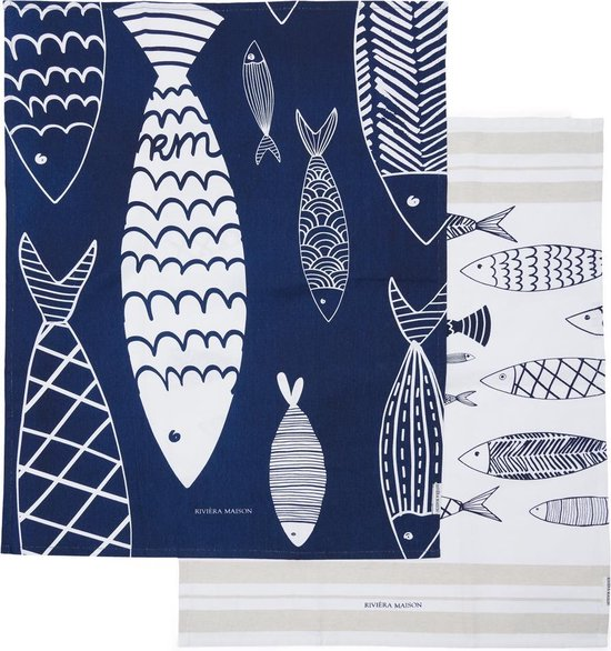 The Seafood Club Tea Towel 2 pieces
