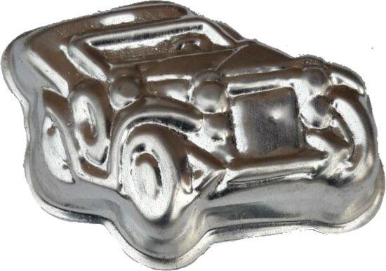 bakblik - cakeblik - 2 oltimer auto's - auto - oldtimer - metaal -  (lees beschrijving) - cakevorm - Bakvorm - 2 delig
