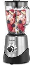 Brabantia BBEK1051 Blender - 1.5 Liter - 500 Watt - Glazen kan - Smoothies - Ice Crusher - RVS