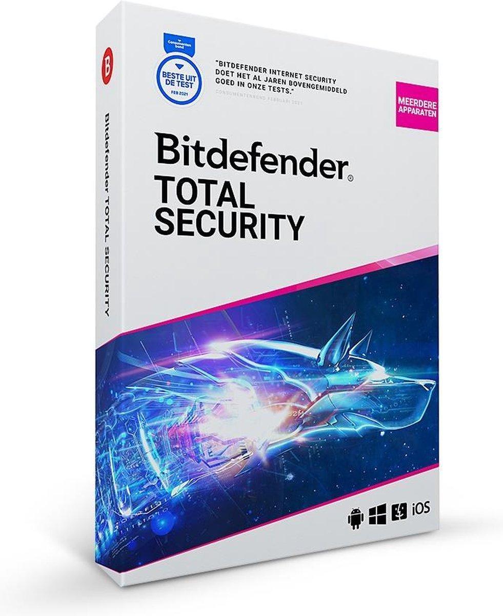Bitdefender Total Security 2021 - 10 Apparaten - 1 Jaar - Nederlands - Windows/iOS/MAC/Android Downl