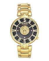 Versus Versace Lodovica Gold Black Lion Head Unica - VSPVS0820 - Dameshorloge - Goud - Swarovski - Goud - Zwart - RVS horlogeband - 38 MM