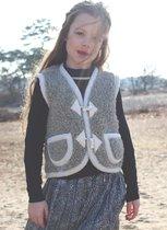 Bodywarmer van 100% wol - Grijs - We Are Wovens - Handgemaakt - Wollen kleding - Maat 98/104
