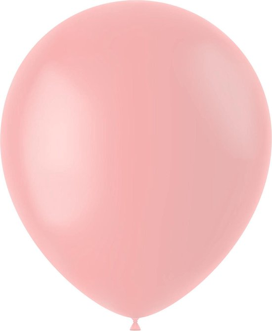 Lichtroze Ballonnen Powder Pink 33cm 100st