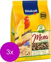 Vitakraft Kanarie Premium Menu - Vogelvoer - 3 x 500 g