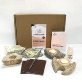 SamStone Doe-het-zelf pakket 3 speksteen theelichten