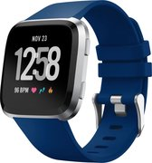 YONO Fitbit Versa 2 Bandje - Siliconen - Blauw - Large