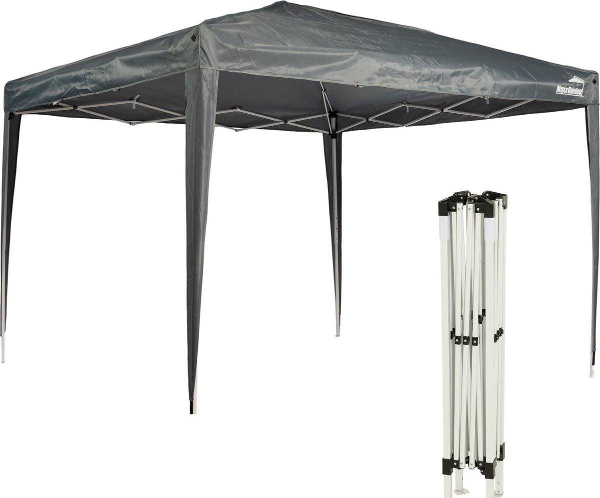 MaxxGarden Easy-up Partytent Feesttent Paviljoen  3x3m - Opvouwbaar - grijs