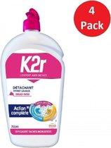 K2R 4 x 750ml Vloeibare Vlekkenverwijderaar voor Voorwas - Aérosol - Voordeelverpakking