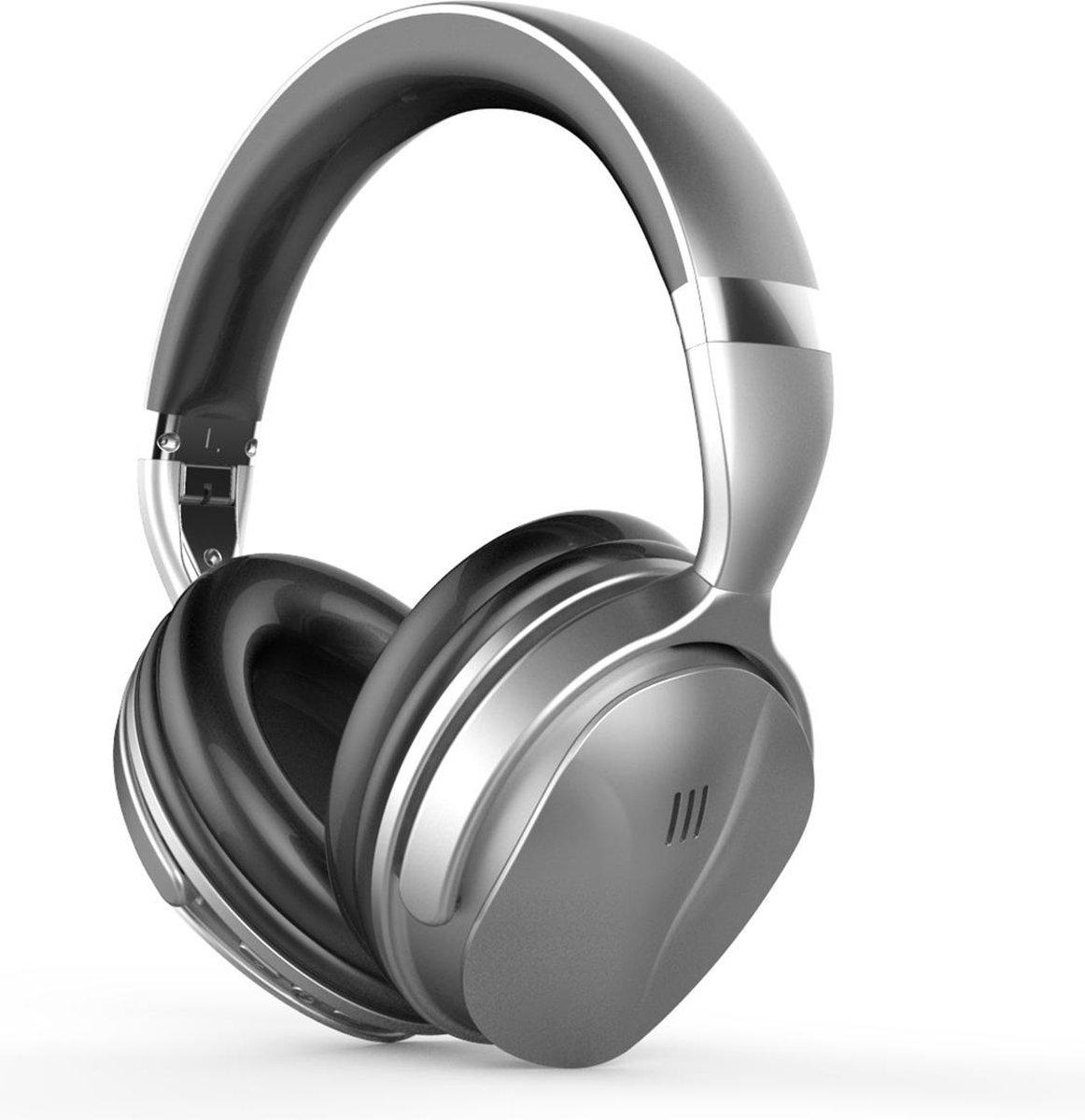 YONO Noise Cancelling Hoofdtelefoon ANC80 – Over-Ear Koptelefoon Bluetooth – Draadloos – Zilver