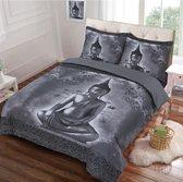 Dekbedovertrek Buddha Grijs 2-Persoons Lits-jumeaux 240x200/220 cm