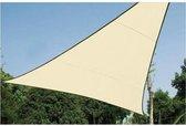Perel - Schaduwdoek/zonnezeil - Driehoek 5 x 5 x 5m - Waterdoorlatend - Beige