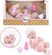 Beau Levensechte Gapende Babypop 36 cm + Accessoires