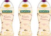 VOORDEEL 3 STUKS Palmolive Douchecrème Vanilla Pleasure  500 ml Grote fles