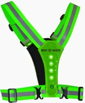 Bee Seen – GREEN Harness USB - Verlichting - Led Harness - USB - LED - one size - Hardloopvest - Jogging reflectie vest - Hardloopverlichting