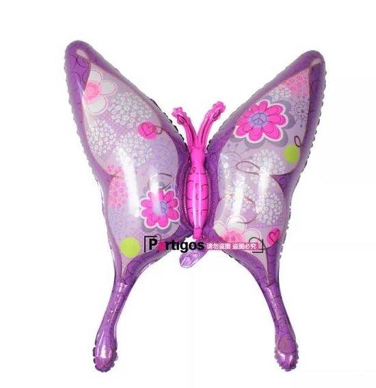 Ballon Vlinder XL roze paars, kindercrea
