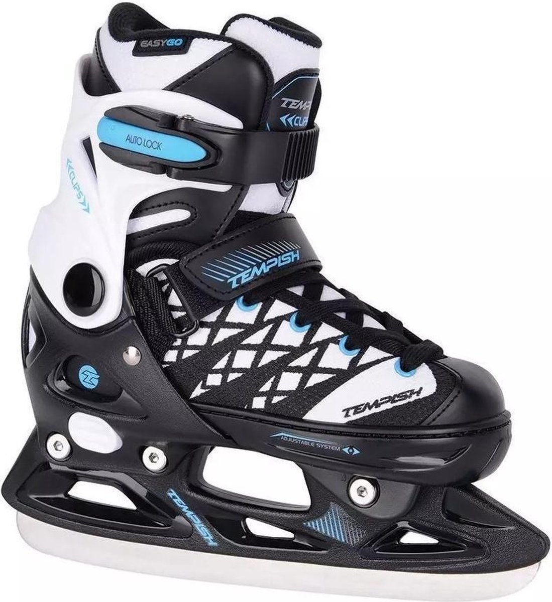 Tempish Verstelbare schaatsen maat 33 t/m 36 schaatsen zwart