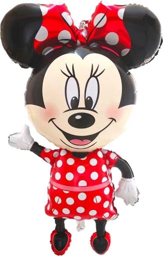 Partygoodz - XL Minnie Mouse  Folieballon - 112 CM Hoog - 65 CM Breed - Disney - Geschikt Voor Helium - Kinderfeestje - Verjaardag