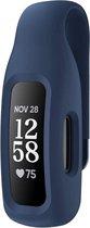 Siliconen Case Cover Clip Voor Fitbit Inspire 2/Ace 3 - Riem Clip Houder - Beschermhoes Protector Hoesje - Weer- & Zweetbestendig - Blauw
